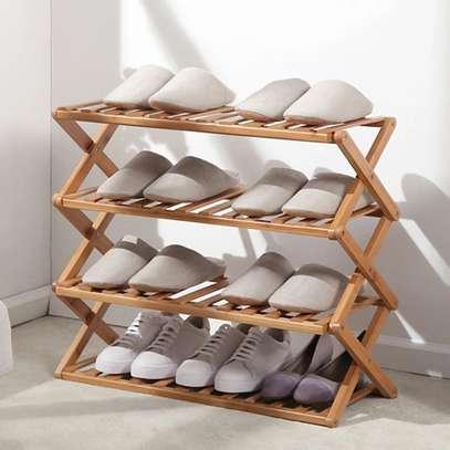 4-Tier Multi-functional / Bamboo shoe rack image 2
