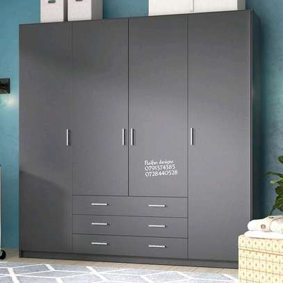 Four door wardrobe/wardrobe with drawers image 1