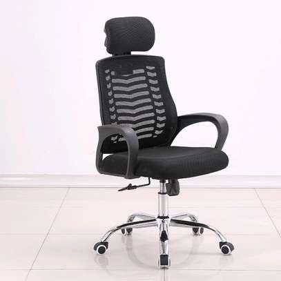An adjustable high back Headrest office chair image 1