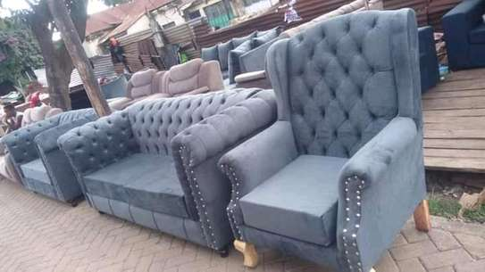 Ready Made Elegant Classic 5 Seater Chesterfield sofa+ Wingback Chair image 1