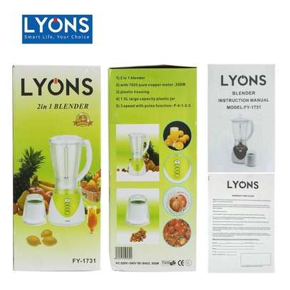 Lyons Blender 2 In 1 With Additional Grinder Machine 1.5L -FY-1731 image 2