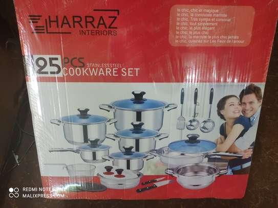 25pieces Harraz stainless steel cookware set image 2