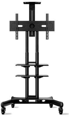 """ONKRON Mobile TV Stand TV Cart with Wheels & 2 AV Shelves for 32"""" – 65 TS1552 image 2"""