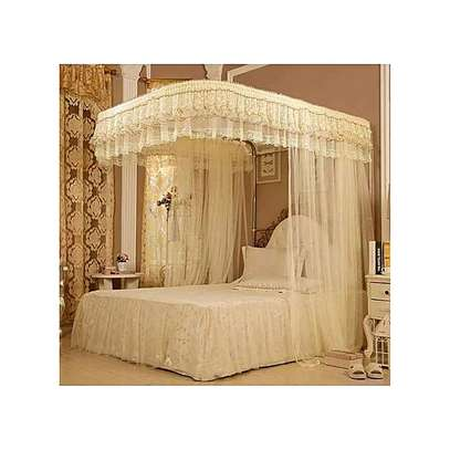 Mosquito Net With 2 Stands with rails - 5x6 image 2