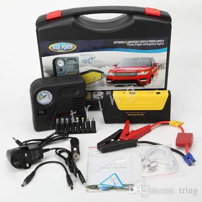 Portable Car Jump starter Kit with Tyre Infiltrator / Air Compressor image 1