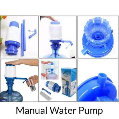 Portable Travel Bottle Manual Water Pump Hand Dispenser image 1