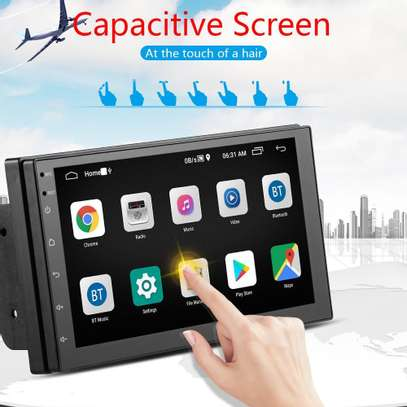 Android 9.1 Double Din Car Stereo 7 inch Touch Screen Bluetooth Head Unit. image 1