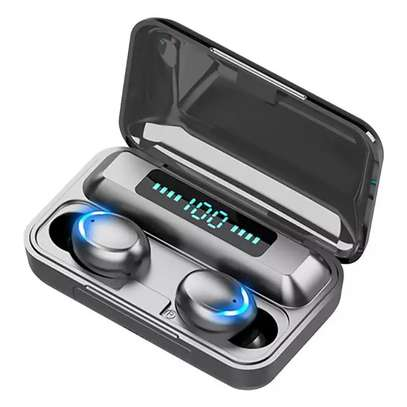 F9-5 8D HiFi Stereo True Wireless Earbuds with HD Mic, Extraordinary Bass Music, IPX7 Waterproof Headsets with power bank image 1