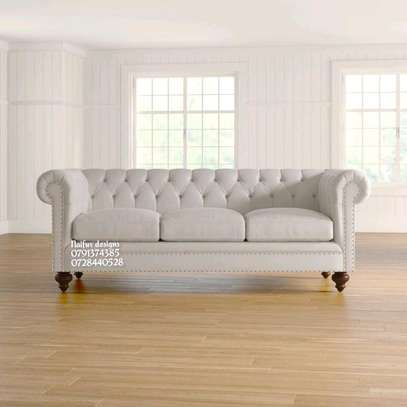 Modern tufted sofas/beige sofas image 1