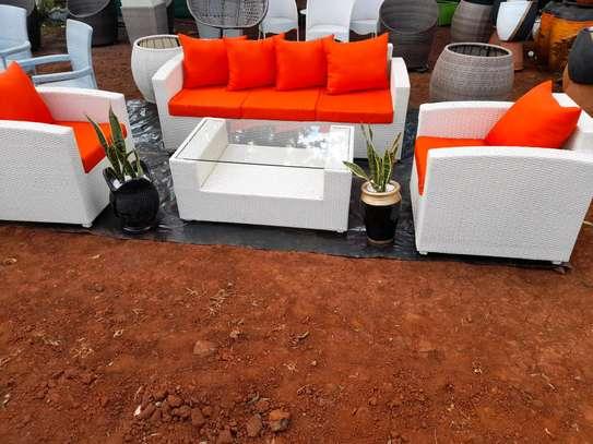 Rattan sofa image 1