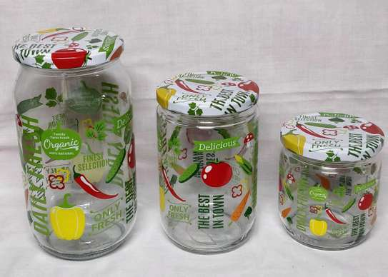 3pcs colourful spice container image 1