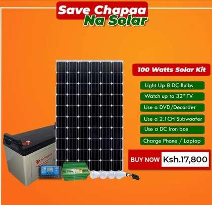 100 watts solar kit image 1