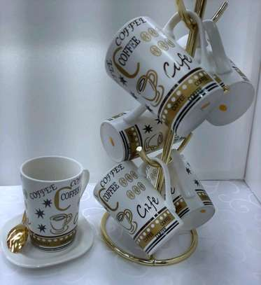 Ceramic Cups And Stand image 1