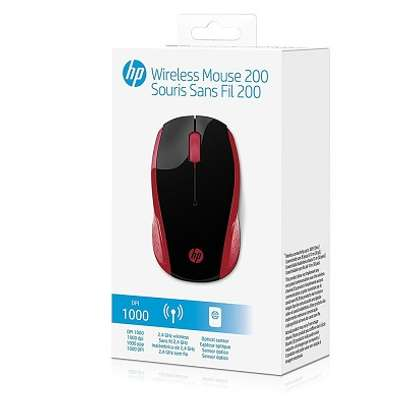 HP 200 Empress red wireless mouse image 3
