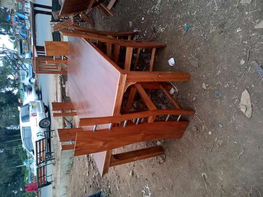 Dining set of six seater image 1