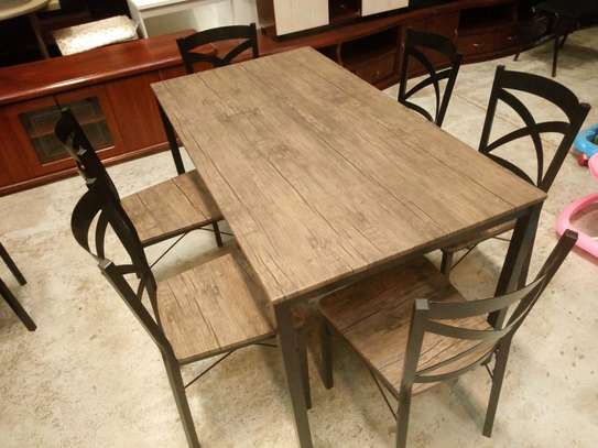 6seaters wooden dining table image 1