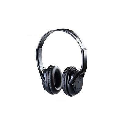 BAT Music SD Card Headphones With FM - Black image 1