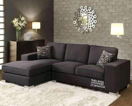 Black L shaped sofas/modern sofas/five seater sofas image 1