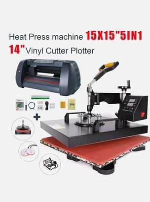"""2Ft Vinyl Cutter Plotter 15""""x15""""  Heat Press-8 in1 Starter Kit. image 1"""