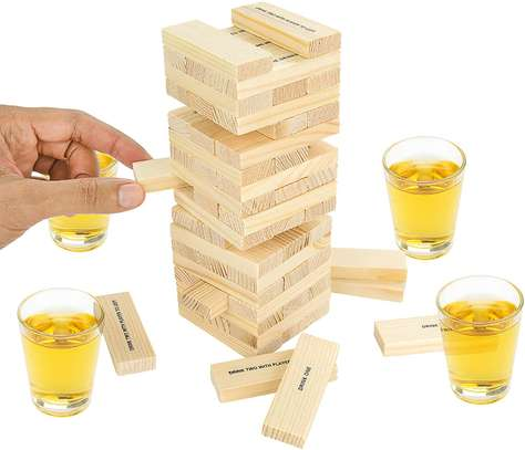 Adult Jenga Drunken Tower Drinking Games image 3