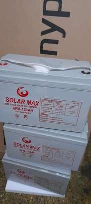 Solarmax deep cycle solar gel battery 6FM- 150Ah image 1