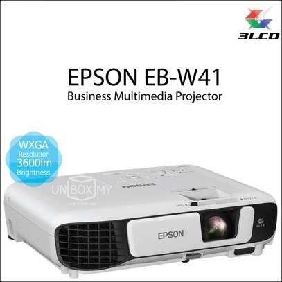 Restocked EPSON EB W41, WXGA, 3600lumens projector image 1