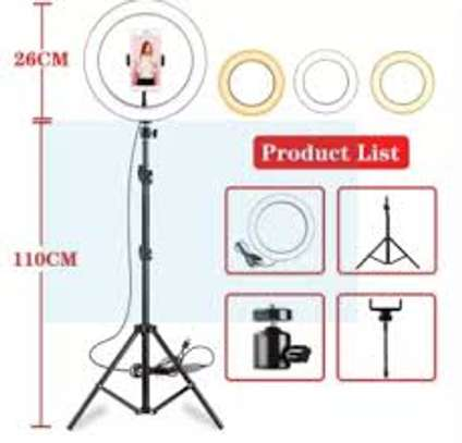 10 Inches Ring Light Kit with Tripod Stand & Phone Holder image 1