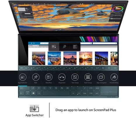"ASUS ZenBook Duo UX481 Laptop, 14"" FHD NanoEdge Bezel Touch, Intel Core i7-10510U, GeForce MX250, 16GB RAM, 1TB PCIe SSD, Innovative ScreenPad Plus image 3"