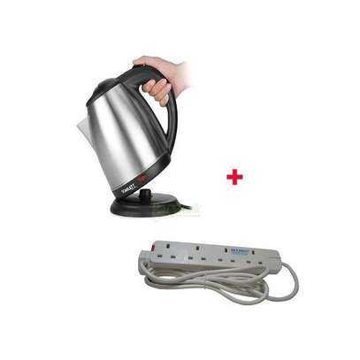 Scarlet Cordless Electric Kettle With Free 4-Way Ext Cable image 1