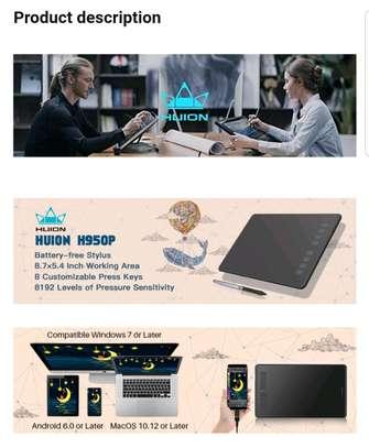 HUION H950P Graphics Pen Tablet with Battery-Free Pen & Tilt image 7