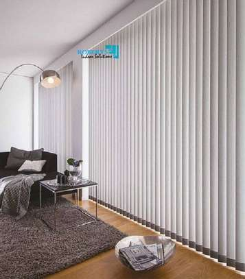 window blinds white print image 1