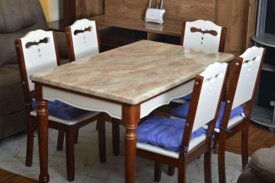 Faris Marble Dining Table 6 Sitter