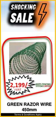Green Razor Wire image 1
