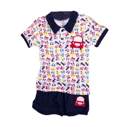 2 PC boys set (polo t-shirt and shorts) image 1
