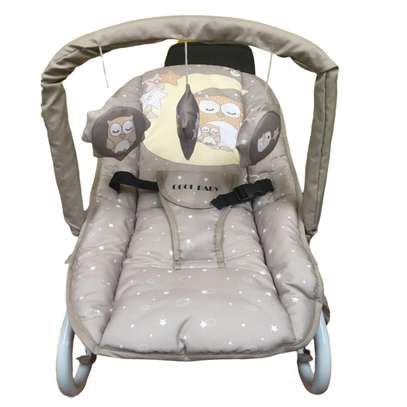 Infant bouncer/rocker- Grey with small stars
