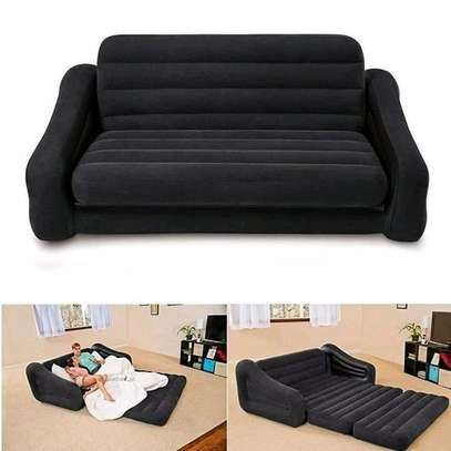 Intex 3 seater inflatable pull-out sofa, bed image 1