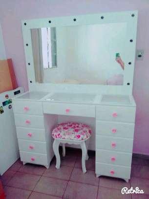 Modern white dressing tables/dressing mirror designs image 1