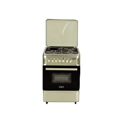 SOLSTAR SO 640F-GWHB SS: 60cm Free Standing Cooker - 4 Gas Burners - White image 1