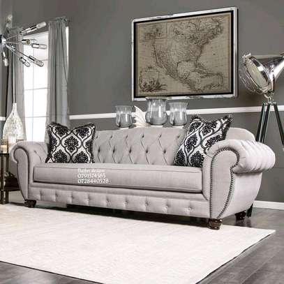 Three seater sofa plus two seater sofa/complete set of sofa/beige sofas/modern sofas/tufted sofas image 3