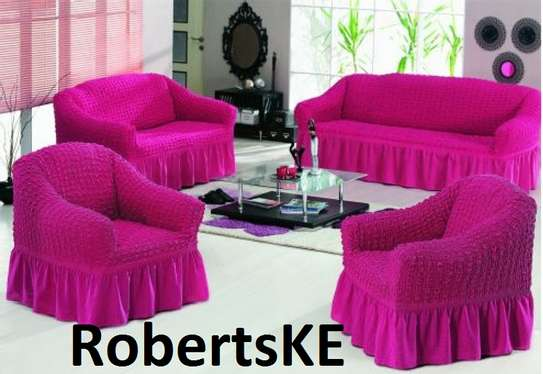 hot pink sofa cover image 1