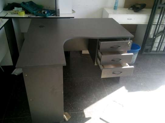 Executive l-shape desk 4 by 4 fitt image 1