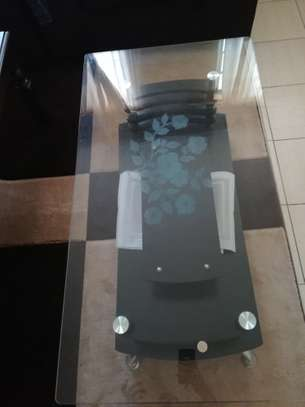 Tempered glass table image 1