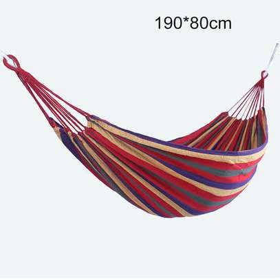 Outdoor Hammock Hanging Swing Camping Canvas Bed image 1