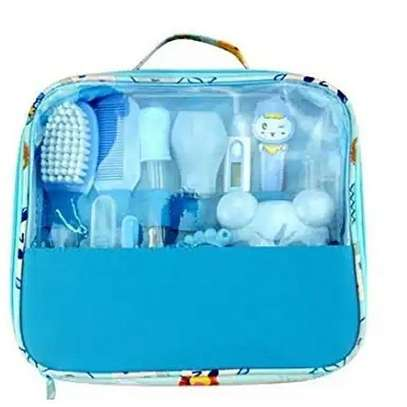 Classy Baby Grooming Nursery Healthy Kit with a clear pouch - blue image 1
