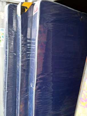 King size 6 by 6 medium density 6 inches blue piped mattress brand new free delivery