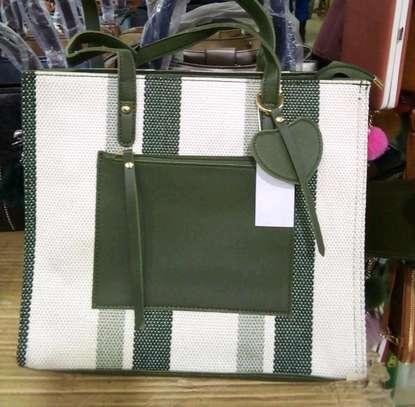 White and green quality handbags image 1