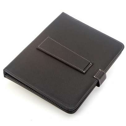 Universal Folding Leather Folio Case Cover Stand & Micro USB Keyboard for image 5