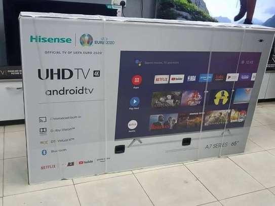 Hisense 65 Inch 4K UHD Android Frameless Smart LED TV With Bluetooth(2020 Model) image 1