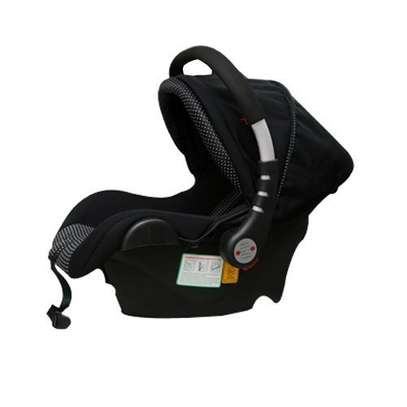 Infant Baby Car Seat/ Carry Cot - black and white polka dots( big) image 1