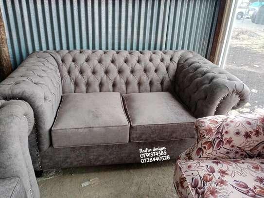 Complete set of sofas/classic livingroom sofa designs/three seater sofa/two seater sofa/wingback sofas/Victorian sofas image 2